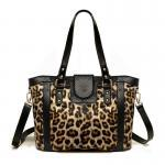 Cute Leopard Print 3-ways Bag for Woman