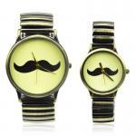 Vintage Style Moustache Logo Couple Watches