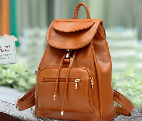 Vintage Leather Backpack for Summer