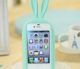 Cute Rabbit Stand Case for iPhone4/4S