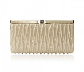 Slender Quilted Clutch Bag