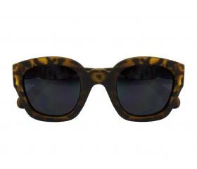 Leopard Print Frosted Sunglasses
