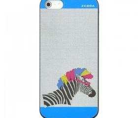 Blue Zebra Print Case for iPhone 5 