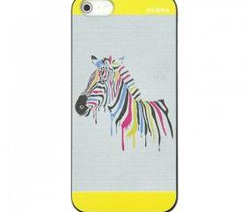 Zebra Print Case for iPhone 5  yellow
