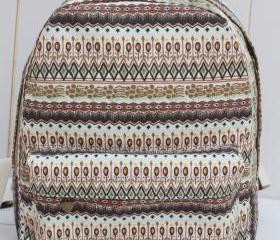 Boho Canvas Backpack for Women