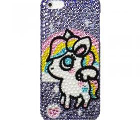 Fantasy Unicorn Crystal Bling Bling iPhone Case