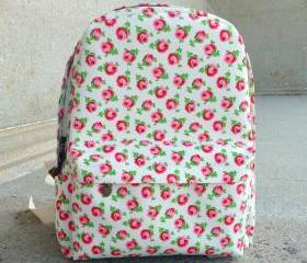 Rose Canvas Backpack