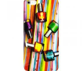Colorful Nail Polish Phone Case For iPhone 5