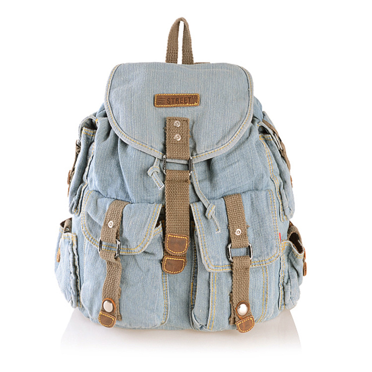 Light Blue Jeans Street Backpack on Luulla